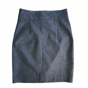 Zara Basic Skirt Denim Pencil Flat Front Sz Medium